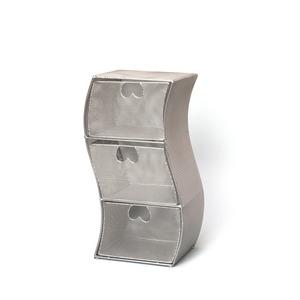 ワイヤーメッシュCDラック スチール鉄線 幅16cm×奥行14.5cm×高さ35.5cm ISK-88 - 拡大画像