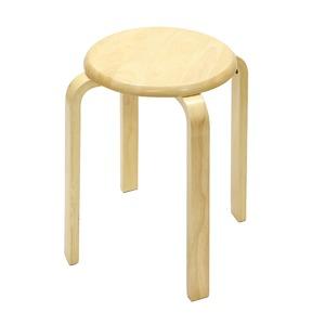 木製丸椅子 丸椅子 スタッキングチェア(ナチュラル) - 拡大画像