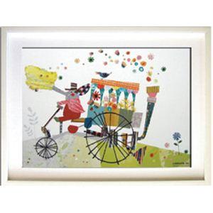 風景専門店あゆわら 《アートフレーム》Colobockle ぞうの花車 - 拡大画像