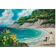 風景専門店あゆわら 《情景画》浜辺(坂道なつ)〔アクリル画・水彩画〕 - 縮小画像1