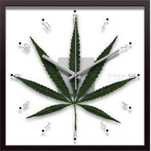 風景専門店あゆわら 《リーフパネル》F-style Clock Cannabise Sativa(カンナビス・サティバ/大麻草) - 拡大画像