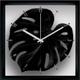 風景専門店あゆわら 《リーフパネル》F-style Clock Monstera deliciosa / Black (モンステラ・デリシオサ) - 縮小画像1
