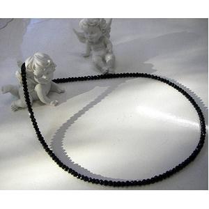 ブラックスピネルネックレス 45cm 4mmタイプ - 拡大画像