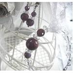 ルビー&水晶 ブレスレット・イヤリングセット