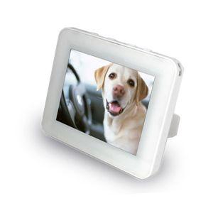ZOX(ゾックス) 3.5インチデジタルフォトフレームDS-DA35N104WH ホワイト コンパクトで机の上にちょうどいいサイズ - 拡大画像