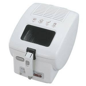 TWINBIRD(ツインバード) 電気フライヤー EP-D692SI  電気で揚げ物 コンパクト電気フライヤー【キッチンを汚さずにカラッとおいしい揚げ物ができる!】 火を使わないで揚げ物ができる!【マグネット式プラグコードで安全配慮も充実】 - 拡大画像