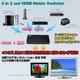 PS3やwiiなどHDMIケーブルの・切替をこのセレクターで MotionTech HDMI Matrix 4×2 HM42(リモコン付) - 縮小画像2