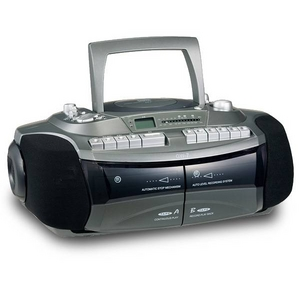 CDラジカセ ダブルカセット おけいこラジカセ CDラジカセ GW-7 カラー:グリーン GW-7G 創和 遅聞き・早聞き機能搭載  - 拡大画像