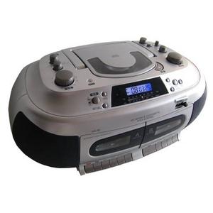 創和 遅聞き・早聞きCDダブルラジカセ WS80 カラオケおけいこにぴったり  - 拡大画像