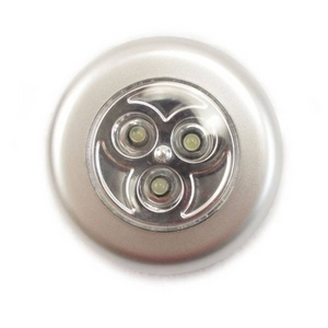 プッシュ式 LEDタッチライト 電池式 ライトアウトドア、災害や停電時にも 工事不要  - 拡大画像
