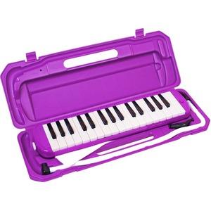 カラフル32鍵盤ハーモニカ MELODY PIANO P3001-32K  パープル - 拡大画像