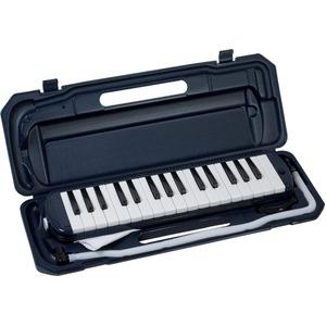 カラフル32鍵盤ハーモニカ MELODY PIANO P3001-32K ネイビー - 拡大画像