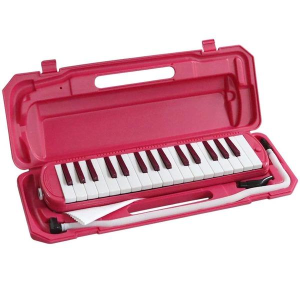カラフル32鍵盤ハーモニカ MELODY PIANO P3001-32K ビビッドピンク