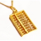 純金ペンダントトップ 【そろばん】 金運UP 24K999ゴールド刻印あり !ゴールドペンダントトップ p35 - 縮小画像1