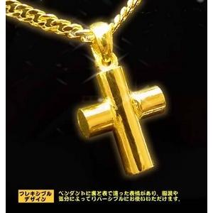 ハンドメイド純金ペンダントトップ 【パワークロス】 24金 !ゴールドペンダントトップ p36 - 拡大画像