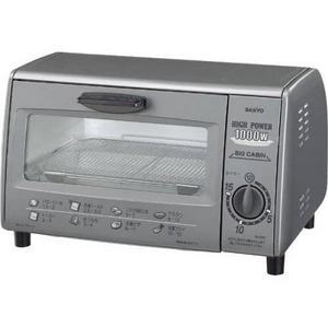 SANYO(サンヨー) オーブントースター SK-PS2(H) 【ハイパワー1000Wでトースターを一気においしく焼き上げる】 - 拡大画像
