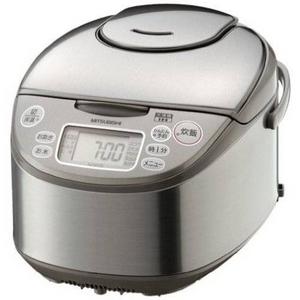 MITSUBISHI(三菱) 炊飯器 NJ-KH18(S) 三菱 10合炊き 1.8mm遠赤厚釜 「大沸騰IH」NJ-KH18-S IHジャー炊飯器 シルバー 1升炊き - 拡大画像
