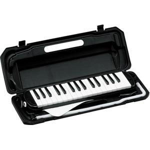 カラフル32鍵盤ハーモニカ MELODY PIANO P3001-32K ブラック - 拡大画像