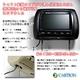Cartion 新タイプ 7インチヘッドレストモニター ブラックレザー(配線外出仕様) - 縮小画像3
