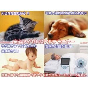 【小型カメラ】安心モニター ベビー・ 赤ちゃん・ペット・防犯・来店・来客・介護・ビジネスなどに ワイヤレスカメラで遠隔操作 - 拡大画像