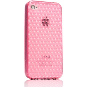 Ai-Style Series iPhone4 TPUケース 【Ai4-S-Dia-Pink】 Type S-Dia  Pink(ピンク) - 拡大画像