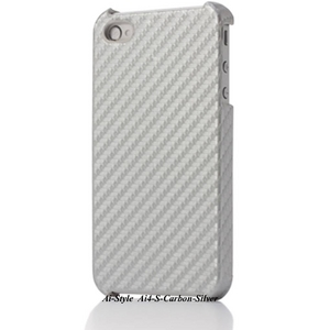Ai-Style iPhone4 Carbon Look(ハードケース カーボンルック) 【Ai4-Carbon-Silver】(シルバー) - 拡大画像