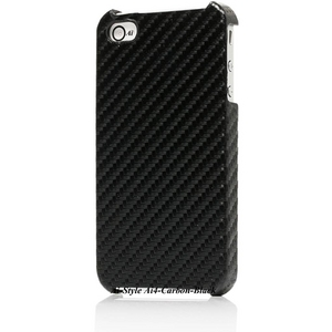 Ai-Style iPhone4 Carbon Look(ハードケース カーボンルック) 【Ai4-Carbon-Black】(ブラック) - 拡大画像