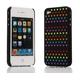 Ai-Style Series iPhone4 ケース 【Ai4-S-Dot-BK】(ブラック)替玉7色各16個付 - 縮小画像2