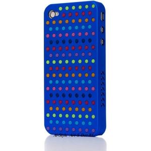 Ai-Style Series iPhone4 ケース 【Ai4-S-Dot-BL】(ブルー)替玉7色各16個付 - 拡大画像