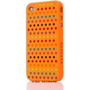 Ai-Style Series iPhone4 ケース 【Ai4-S-Dot-OG】(オレンジ)替玉7色各16個付 - 拡大画像