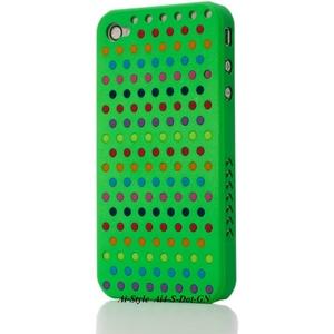 Ai-Style Series iPhone4 ケース 【Ai4-S-Dot-GN】(グリーン)替玉7色各16個付 - 拡大画像