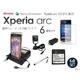 Xperia arc SO-01C 縦型クレードル充電器&予備バッテリー&アダプター&液晶保護シート&静電式スタイラス&microUSB変換コネクタ6点セット - 縮小画像1