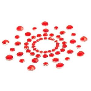 MiMi ラインストーンニップルカバー RED - 拡大画像