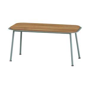センターテーブル/ローテーブル 【グリーン】 幅800mm スチールフレーム 〔リビング ダイニング〕 組立品 - 拡大画像