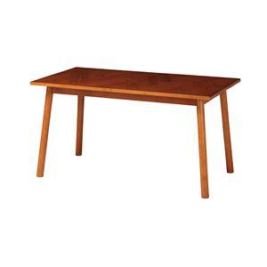 北欧風 ダイニングテーブル/食卓テーブル 【幅1300×奥行700×高さ680mm】 木製脚付き 〔リビング ダイニング〕 組立品 - 拡大画像