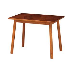 北欧風 ダイニングテーブル/食卓テーブル 【幅900×奥行450×高さ400mm】 木製脚付き 〔リビング ダイニング〕 組立品 - 拡大画像