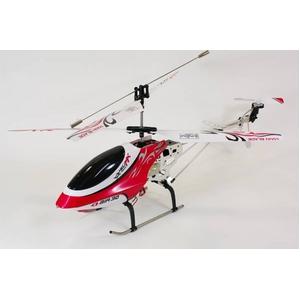 村田製作所ジャイロ搭載 3chラジコンヘリコプター HELIMX レッド - 拡大画像