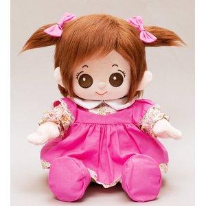 プチハピコレクション01ピンクワンピース(靴、リボン付)「うたこちゃん」専用お洋服 - 拡大画像