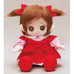 プチハピコレクション01赤色ワンピース(靴 リボン付)「うたこちゃん」専用お洋服 - 拡大画像