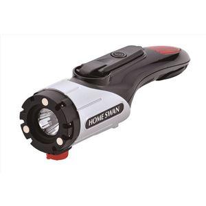 レスキューツールライト/LEDライト 【約55mm×75mm×210mm】 約250g ABS樹脂 『HOME SWAN』 - 拡大画像