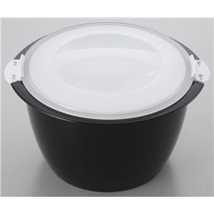 レンジごはん炊き2合/調理器具 【約225×200×142mm】 計量カップ容量付き 電子レンジ対応 〔キッチン 台所〕
