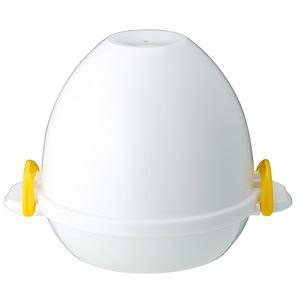 ゆで卵メーカー/調理器具 【4個用】 約160×180×131mm 電子レンジ対応 『レンジでらくチン!ゆでたまご』 〔キッチン 台所〕