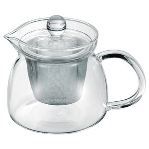 シンプル ティーポット/キッチン用品 【400ml】 耐熱ガラス製 ハーブティー 『アサヒ』 〔台所 キッチン〕