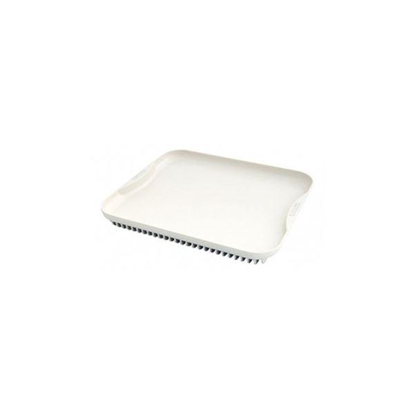 解凍プレート/調理器具 【大サイズ】 250×215×29mm 日本製 アルミ シリコーン塗装 『クイッ君』