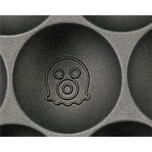 電気 たこ焼き器/調理家電 【310×235×85mm】 日本製 温度調節機能付き アルミ 『ツーツーにこにこたこやきちゃん早焼き』