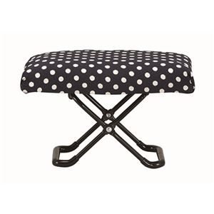 玲 -れい- 正座椅子 (巾着袋付き) 水玉 RS-02 - 拡大画像