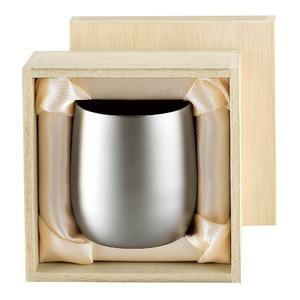 チタン製 タンブラー/ビアカップ 日本製 2重カップ 『アサヒ』 〔カフェ バー〕