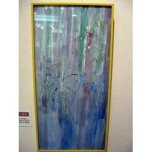 齋藤いさおこ作板絵 からくーむシリーズ 「交じり合う色々」 - 拡大画像