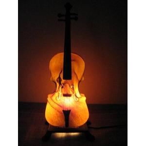 暖かな光のバイオリンランプ - 拡大画像