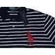 POLO Ralph Lauren(ポロ ラルフローレン) ビッグポニーストライプポロシャツ(半袖) カスタムフィット ネイビー×ホワイト Lサイズ - 縮小画像2